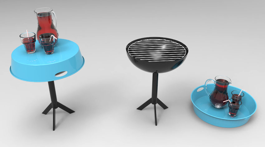Produkt henrik drecker design for Tischgrill design